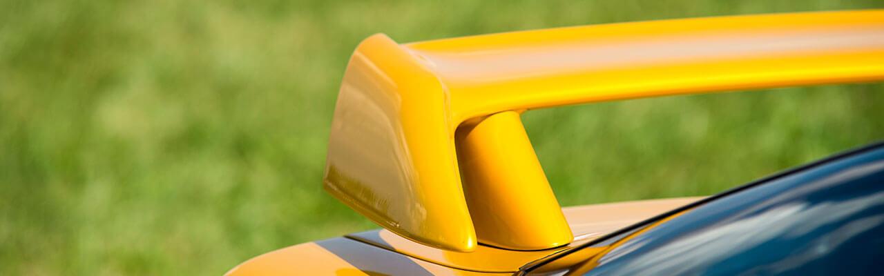 Yellow Car Spoiler