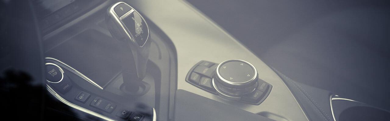 Close up of car hand controls.